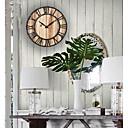 זול שעוני קיר מוטבעים בציורי קנבס-נושא בוהמי נושא וינטג שעון קיר,עגול בבית שָׁעוֹן