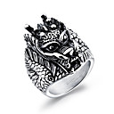 cheap Men's Rings-Men's Geometric Statement Ring - Rock, Hip-Hop 7 / 8 / 9 Silver For Carnival / Club