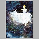 cheap Floral/Botanical Paintings-Oil Painting Hand Painted - People Classical Canvas / Stretched Canvas