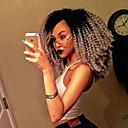 preiswerte Kleider für Mädchen-Synthetische Lace Front Perücken Kinky Curly Stil Mit Strähnen Spitzenfront Perücke Grau Schwarzgrau Synthetische Haare Damen Grau Perücke Kurz EEWigs Natürliche Perücke