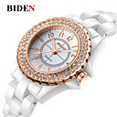 cheap Men's Slip-ons & Loafers-BIDEN Women's Wrist Watch Chinese Casual Watch Ceramic Band Casual / Fashion / Elegant White