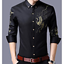 cheap Men's Oxfords-Men's Street chic / Chinoiserie Slim Shirt - Animal Classic Collar / Long Sleeve