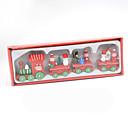 olcso Karácsonyi dekoráció-4db Karácsony Karácsonyi figurák, Ünnepi Dekoráció 24*8*3