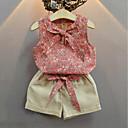 tanie Bluzy dla dziewczynek-Komplet odzieży Bawełna Akryl Spandeks Dla dziewczynek Prosty Postarzane Na każdy sezon Bez rękawów Urocza Na co dzień Aktywny Blushing