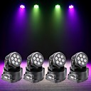tanie Oświetlenie sceniczne-U'King 4szt Oświetlenie LED sceniczne DMX 512 / Master-Slave / Aktywowana Dźwiękiem 70 W na Obuwie turystyczne / Impreza / Scena Profesjonalny / a