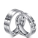 cheap Rings-Men's / Women's Cubic Zirconia Engagement Ring / Rings Set - Cubic Zirconia Princess Classic 6 / 7 / 8 Titanium For Wedding / Party / Evening / Evening Party