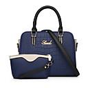 お買い得  バッグセット-女性用 バッグ PU バッグセット 2個の財布セット ジッパー ベージュ / パープル / スカイブルー