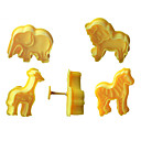 billige Bakeredskap-4pcs cookie plunger cutters kjeks fondant kake mold 3d animal elefant sugarcraft decor craft