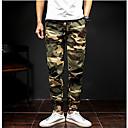 povoljno Muške duge i kratke hlače-Muškarci Ležerne prilike / Vojni Pamuk Slim Chinos Hlače Kolaž / Vikend
