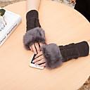 preiswerte Umhängetaschen-Damen Handgelenk-Länge Halbfinger Handschuhe Solide / Winter