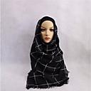 tanie Modne bransoletki-Damskie Hidżab - Jedwab wiskozowy, Kratka