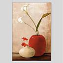 tanie Obrazy: motyw roślinny/botaniczny-Hang-Malowane obraz olejny Ręcznie malowane - Martwa natura Klasyczny Brezentowy / Rozciągnięte płótno