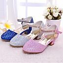 זול נעלי ילדות-בנות נעליים דמוי עור / מיקרופייבר אביב עקבות זעירים עבור בני נוער עקבים ל כסף / כחול / ורוד