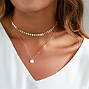 cheap Anklet-Women's Choker Necklace / Pendant Necklace - Basic Gold, Silver Necklace For Daily, Club