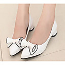 cheap Women's Heels-Women's Shoes PU(Polyurethane) Spring / Fall Comfort Heels White / Black / Red