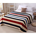 cheap Blankets & Throws-Super Soft Striped Polyester Blankets