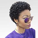 abordables Pelucas Naturales de Malla-Pelo humano pelucas sin tapa Cabello humano Kinky Curly Afro Peluca afroamericana Corta Hecho a Máquina Peluca Mujer
