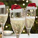 billige Julepynt-10pcs Jul Julepynt, Feriedekorasjoner 6*3.6*0.2