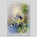 baratos Pinturas Paisagens-Pintura a Óleo Pintados à mão - Paisagem Modern Tela de pintura