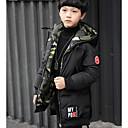 tanie Obuwie chłopięce-Dla chłopców Solidne kolory Odzież puchowa / pikowana Zielony 140