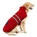 cheap Dog Clothes-Dog Coat / Reflective Band Dog Clothes Solid Colored Dark Blue / Red / Jade Suede / Cotton Costume For Pets Keep Warm