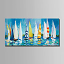 cheap Abstract Paintings-Oil Painting Hand Painted - Landscape Simple Modern Canvas