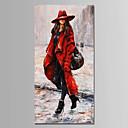 baratos Adesivos de Parede-Pintura a Óleo Pintados à mão - Pessoas Modern Tela de pintura