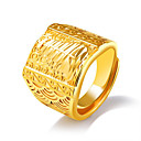 cheap Men's Rings-Men's Geometric Statement Ring Open Cuff Ring - Statement, Oversized Adjustable Gold For Daily