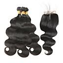 tanie Dopinki w naturalnych kolorach-4 zestawy Włosy indyjskie Body wave Włosy naturalne remy Fale w naturalnym kolorze Ludzkie włosy wyplata Ludzkich włosów rozszerzeniach
