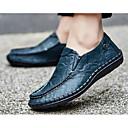 זול נעלי בד ומוקסינים לגברים-בגדי ריקוד גברים עור אביב / סתיו נוחות נעליים ללא שרוכים שחור / צהוב / כחול