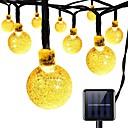 preiswerte LED Lichterketten-7m Leuchtgirlanden 100 LEDs Warmes Weiß Wiederaufladbar <5 V 1pc / IP65