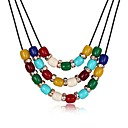 cheap Necklaces-Women's Pendant Necklace - Gold Plated Fashion Rainbow Necklace Jewelry One-piece Suit For Party, Daily