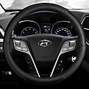 """זול כיסויים להגה-כיסויים להגה עור 38ס""""מ פול / לבן / אודם For Hyundai Elantra כל השנים"""