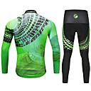 cheap Cycling Jersey & Shorts / Pants Sets-Cycling Jersey with Tights Men's Long Sleeves Bike Tights Pants / Trousers Jersey Top Clothing Suits Bike Wear Reflective Strip Fast Dry