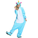 cheap Kigurumi Pajamas-Kigurumi Pajamas Unicorn Flying Horse Adults' Onesie Pajamas Velvet Mink Rose / Blue / Pink Cosplay For Men and Women Animal Sleepwear Cartoon Halloween Festival / Holiday