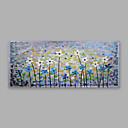 tanie Przybory kuchenne-Hang-Malowane obraz olejny Ręcznie malowane - Kwiatowy / Roślinny Nowoczesny Brezentowy / Walcowane płótno