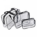 cheap Smartphone Tripods-3Pcs Cosmetic Bag Set Transparent Beauty Bag Waterproof Handbags Wash Bags Ladies Make Up