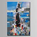 preiswerte Abstrakte Gemälde-Hang-Ölgemälde Handgemalte - Abstrakt Abstrakt Segeltuch