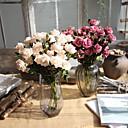 זול פרחים מלאכותיים-פרחים מלאכותיים 5 ענף ארופאי ורדים פרחים לשולחן