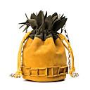 cheap Shoulder Bags-Women's Bags PU(Polyurethane) Shoulder Bag Pocket Yellow / Brown