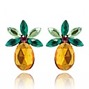 cheap Earrings-Women's Crystal Stud Earrings - Crystal Pineapple, Fruit Sweet Yellow For Daily / Going out