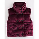olcso Lány dzsekik és kabátok-Kisgyermek Lány Egyszínű Pamut Mellény