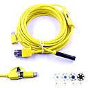 cheap Prints-3 in 1 USB Endoscope 6 LED Waterproof IP67 Inspection Borescop Snake Camera 7mm Dia 5m Hard Cable for Android PC