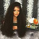 povoljno Perike s ljudskom kosom-Ljudska kosa Lace Front Perika S mldom kosom stil Brazilska kosa Kinky Curly Perika 130% Gustoća kose 100% Djevica Žene Dug Perike s ljudskom kosom