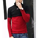 tanie Oksfordki męskie-T-shirt Męskie Moda miejska Bawełna Golf Kolorowy blok / Długi rękaw