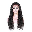 olcso Emberi hajból készült parókák-Remy haj Tüll homlokrész Csipke eleje Paróka Perui haj Göndör Paróka Tincselve 150% Haj denzitás 100% Szűz Női Rövid Közepes Hosszú Emberi hajból készült parókák