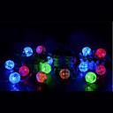 رخيصةأون أضواء LED-3M أضواء سلسلة 20 المصابيح تراجع LED أبيض دافئ / لون متعدد 1PC