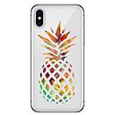 זול מגנים לטלפון & מגני מסך-מגן עבור Apple iPhone X / iPhone 8 Plus תבנית כיסוי אחורי פירות רך TPU ל iPhone X / iPhone 8 Plus / iPhone 8