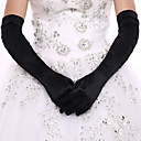 cheap Historical & Vintage Costumes-Elastic Satin / Spandex Fabric Opera Length Glove Bridal Gloves / Party / Evening Gloves With Ruffles
