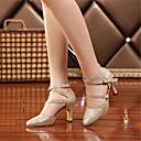 olcso Modern cipők-Női Modern cipők Bőrutánzat Szandál / Magassarkúk Strasszkő / Csat Személyre szabott sarok Személyre szabható Dance Shoes Arany / Ezüst